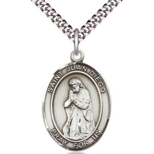 Sterling Silver St Juan Diego Pendant